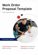 Work Order Proposal Example Document Report Doc Pdf Ppt