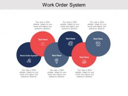 Work Order System Ppt Powerpoint Presentation Slides Slideshow Cpb