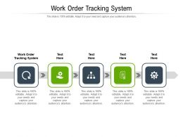Work Order Tracking System Ppt Powerpoint Presentation Layouts Sample Cpb