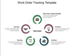 Work Order Tracking Template Ppt Powerpoint Presentation Infographic Template Shapes Cpb