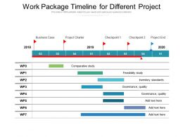 Work Package Timeline For Different Project