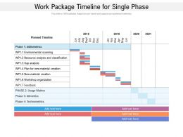 Work Package Timeline For Single Phase