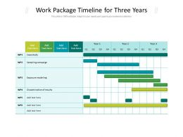 Work Package Timeline For Three Years