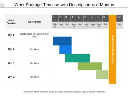Work Package Timeline With Description And Months