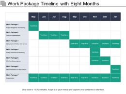 Work Package Timeline With Eight Months Months