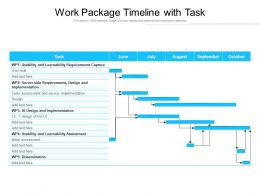 Work Package Timeline With Task