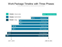Work Package Timeline With Three Phases