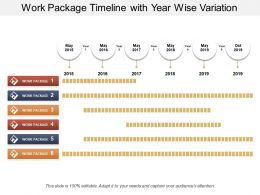 Work Package Timeline With Year Wise Variation