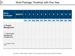 Work Package Timelines With One Year