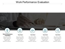 Work Performance Evaluation Ppt Powerpoint Presentation Inspiration Templates Cpb