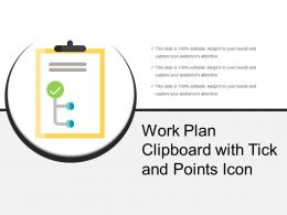 Work Plan Clipboard With Tick And Points Icon