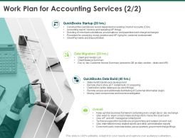 Work Plan For Accounting Services Planning Ppt Powerpoint Presentation Show Background Images