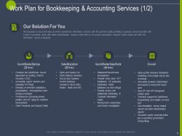 Work Plan For Bookkeeping And Accounting Services Ppt Powerpoint Presentation Show
