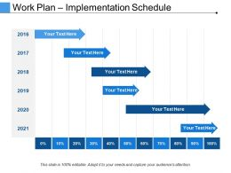 Work Plan Implementation Schedule Powerpoint Slide Ideas