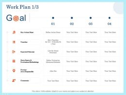 Work Plan Outcome Ppt Powerpoint Presentation Model Vector