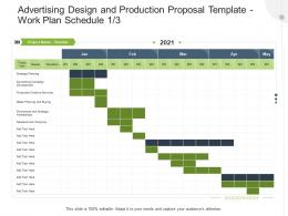 Work Plan Schedule Analytics Advertising Design And Production Proposal Template Ppt Model