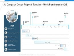 Work Plan Schedule Buying Ad Campaign Design Proposal Template Ppt Powerpoint Styles Themes