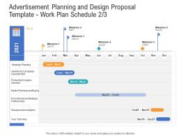 Work Plan Schedule Buying Advertisement Planning And Design Proposal Template Ppt Summary