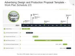 Work Plan Schedule Buying Advertising Design And Production Proposal Template Ppt Outline