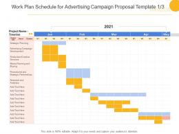 Work Plan Schedule For Advertising Campaign Proposal Template Analytics Ppt Powerpoint Styles