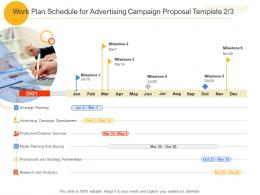 Work Plan Schedule For Advertising Campaign Proposal Template Buying Ppt Powerpoint Design
