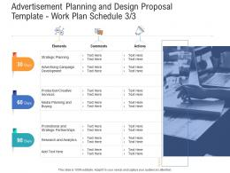 Work Plan Schedule Planning Advertisement Planning And Design Proposal Template Ppt Introduction