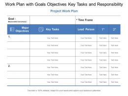 Work Plan With Goals Objectives Key Tasks And Responsibility