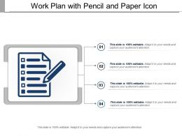 Work Plan With Pencil And Paper Icon