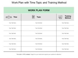Work Plan With Time Topic And Training Method