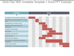 Work Plan With Timetable Template 1 Good Ppt Example