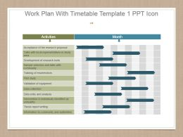 Work Plan With Timetable Template 1 Ppt Icon