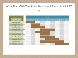 Work Plan With Timetable Template 2 Example Of Ppt