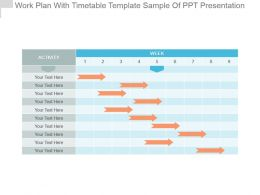 Work Plan With Timetable Template Sample Of Ppt Presentation