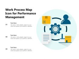 Work Process Map Icon For Performance Management
