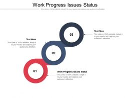 Work Progress Issues Status Ppt Powerpoint Presentation Infographics Information Cpb