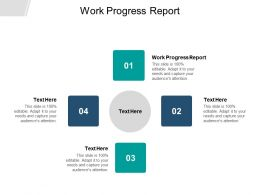 Work Progress Report Ppt Powerpoint Presentation Styles Information Cpb