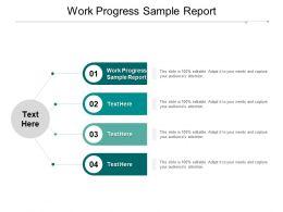 Work Progress Sample Report Ppt Powerpoint Presentation Model Slide Download Cpb