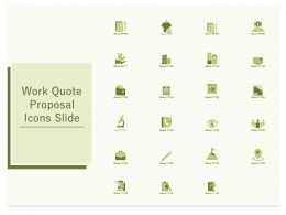 Work Quote Proposal Icons Slide Ppt Powerpoint Presentation Slides Portrait