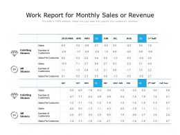 Work Report For Monthly Sales Or Revenue