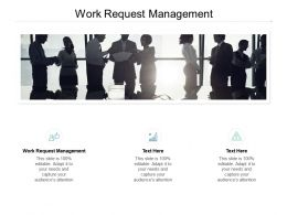 Work Request Management Ppt Powerpoint Presentation Layouts Guide Cpb