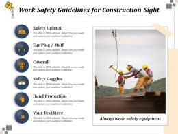 Work Safety Guidelines For Construction Sight