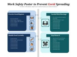 Work Safety Poster To Prevent Covid Spreading
