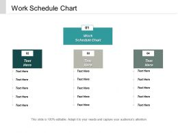 Work Schedule Chart Ppt Powerpoint Presentation Ideas Samples Cpb