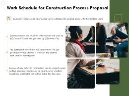 Work Schedule For Construction Process Proposal Ppt Powerpoint Presentation Grid