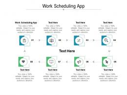 Work Scheduling App Ppt Powerpoint Presentation Infographics Graphic Images Cpb