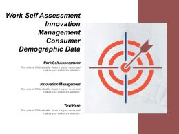 Work Self Assessment Innovation Management Consumer Demographic Data Cpb