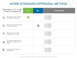 Work Standard Appraisal Method Ppt Powerpoint Icon Diagrams