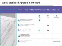 Work Standard Appraisal Method Supervision Ppt Powerpoint Presentation Pictures