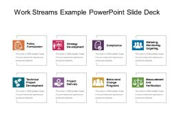Work Streams Example Powerpoint Slide Deck