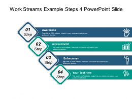 Work Streams Example Steps 4 Powerpoint Slide